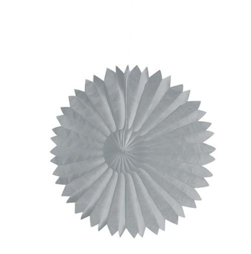 """Silver 10"""" Tissue Fan"""