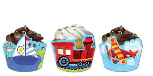 Vehicle On the Go Cupcake Wrappers