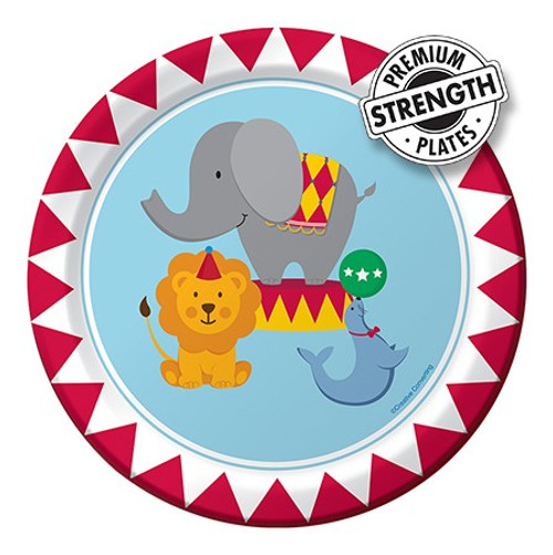 """Circus Time 7"""" Lunch Plates"""