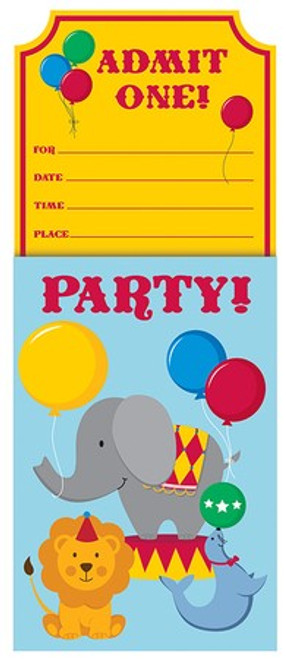 Circus Time Pop-Up Invitations & Envelopes