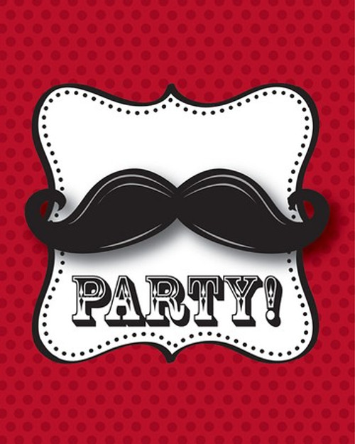 Mustache Madness Foldover Invitations & Envelopes