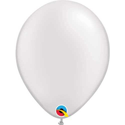 Qualatex 11 Metallic Pearl White Latex Balloon