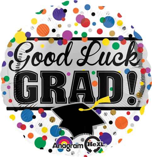 "17"" Grad Good Luck Balloon"