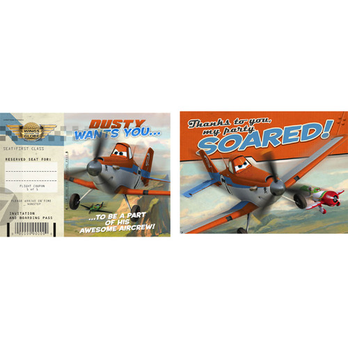 Disney Planes Invitations & Thank You Combo