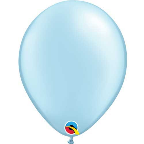 "Qualatex 11"" Metallic Pearl Light Blue Latex Balloon"