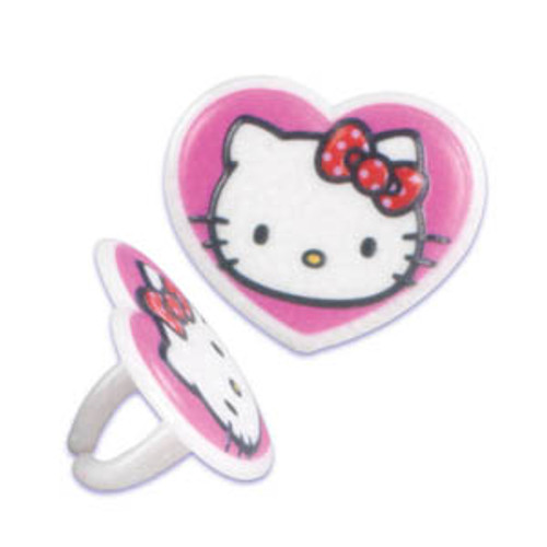Hello Kitty Heart Cupcake Rings