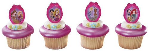 Disney Princess Ribbon Cupcake Rings