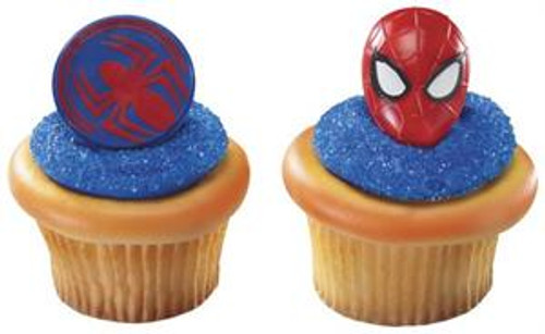 Spiderman Mask Cupcake Rings