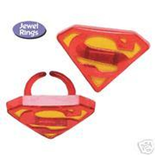 Superman Cupcake Rings