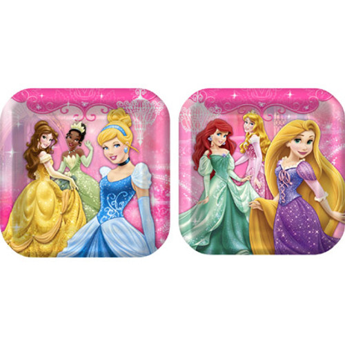 "Disney Very Important Princess 9"" Square Dinner Plates"