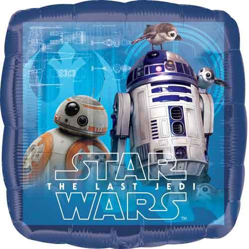 """17"""" Star Wars The Last Jedi Square Balloon"""