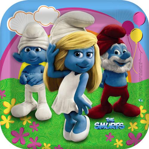 "Smurfs 2 9"" Square Dinner Plates"