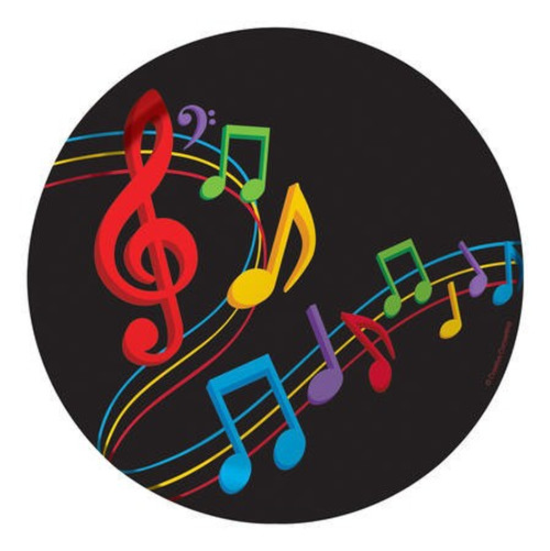 "Dancing Music Notes 7"" Lunch Plates"