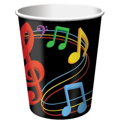 Dancing Music Notes 9 Oz Hot/Cold Cup