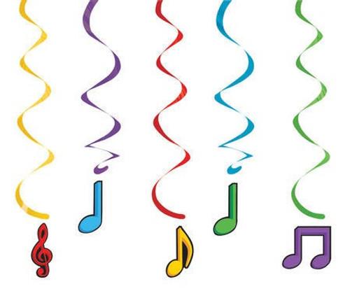 Dancing Music Notes Dizzy Danglers