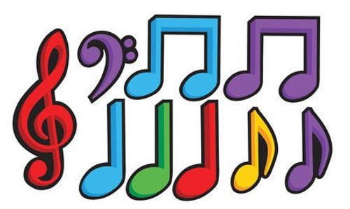 Dancing Music Notes Cutout Assortment