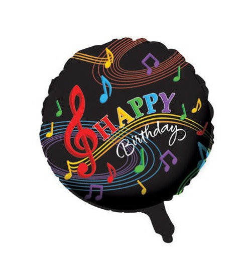 "18"" Dancing Music Notes Foil Balloon"