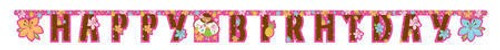 Pink Luau Fun Large Jointed Banner