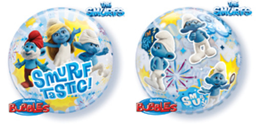 "22"" Smurf-Tastic Bubble Balloon"