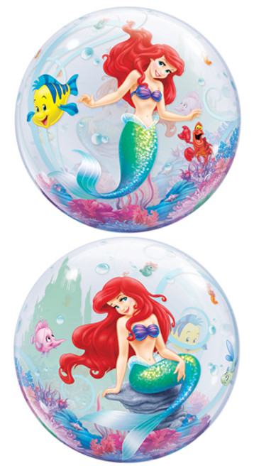 "22"" Ariel Little Mermaid Sparkle Bubble Balloon"
