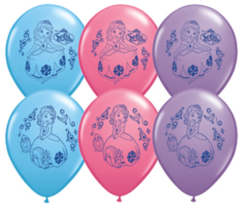 "11"" Sofia The First Latex Balloon Assortment"