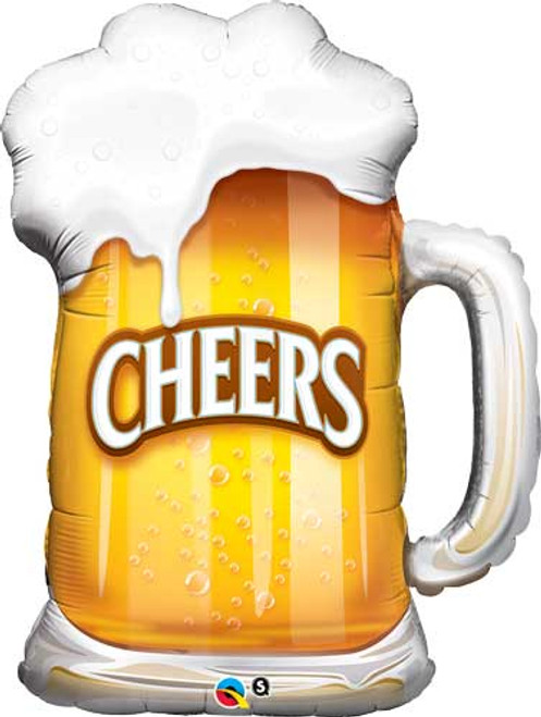 "35"" Beer Mug Cheers Super Shape Balloon"