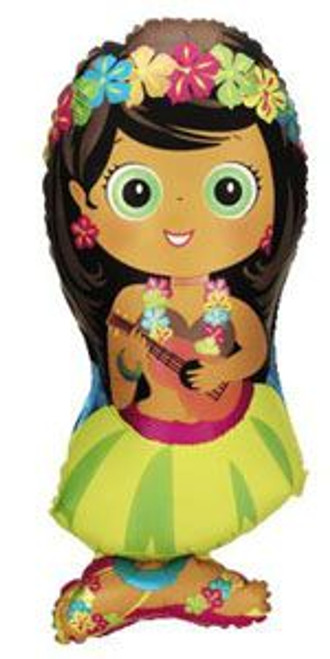 "34"" Hula Girl Super Shape Balloon"