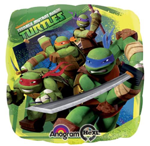"""17"""" Teenage Mutant Ninja Turtles Square Balloon"""