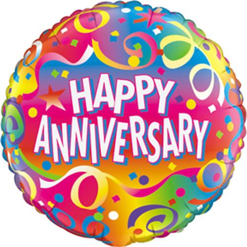 """18"""" Anniversary Confetti Balloon"""