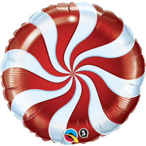 "18"" Candy Swirl Foil Balloon"