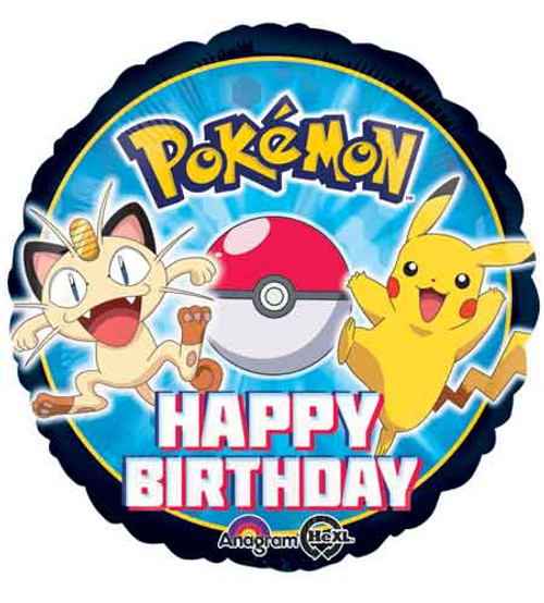 "17"" Pokemon Birthday Balloon"