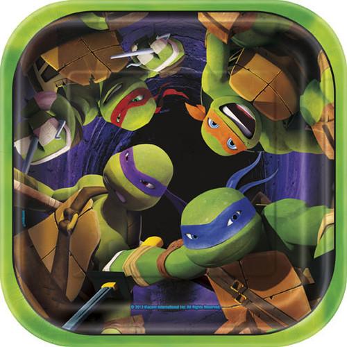 """Teenage Mutant Ninja Turtles 7"""" Square Dessert Plates"""