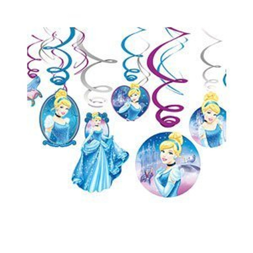 Cinderella Sparkle Swirl Danglers