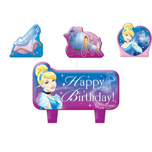 Cinderella Sparkle Molded Candle Set