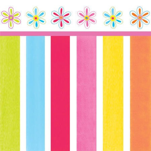 Pink Flower Cheer 3-Ply Beverage Napkins