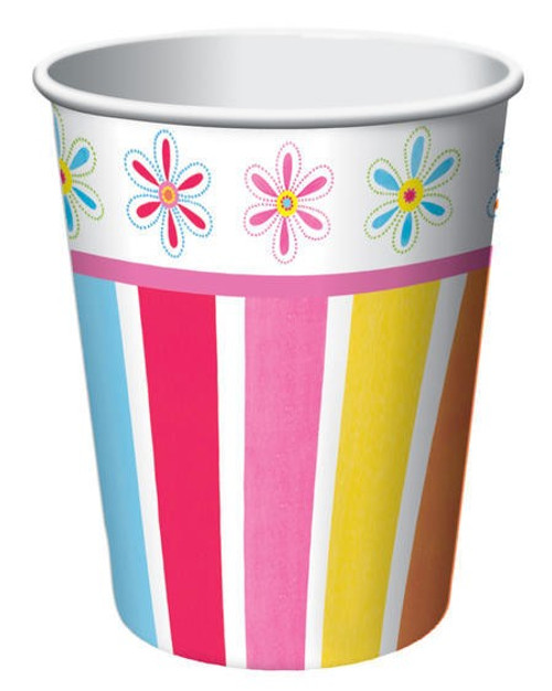 Pink Flower Cheer 9 Oz Hot/Cold Cup