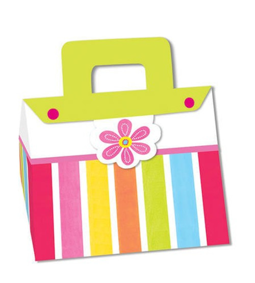 Pink Flower Cheer Shaped Treat Boxes