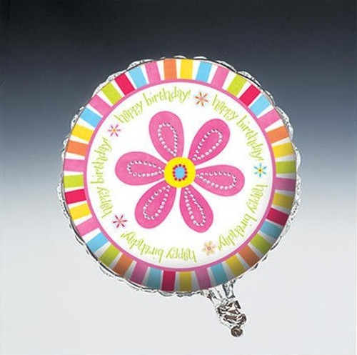 "18"" Pink Flower Cheer Foil Balloon"