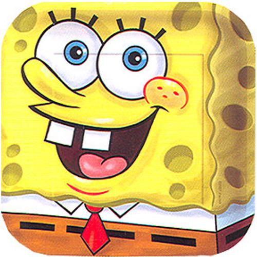 """SpongeBob Classic 7"""" Square Dessert Plates"""