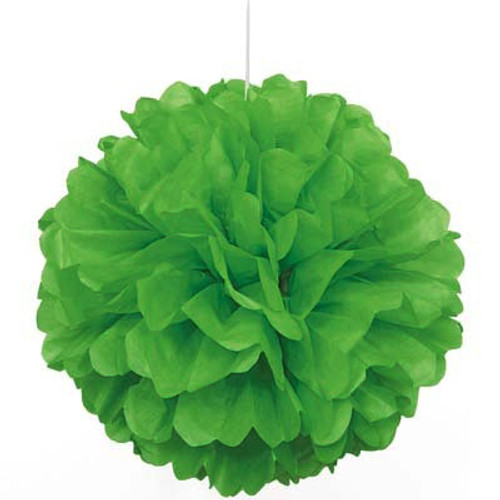 "Green 16"" Puff Ball Decoration"