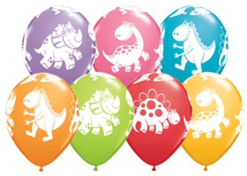 "11"" Cute Dinosaurs Latex Balloon Assortment"