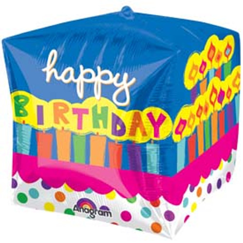 "15"" Birthday Cake Cubez Ultra Shape Balloon"