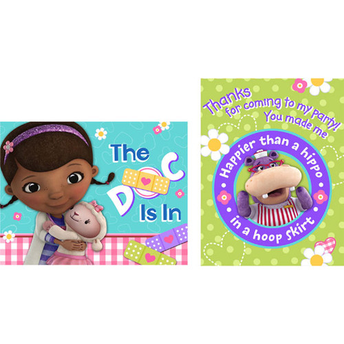 Doc McStuffins Invitations & Thank You Combo