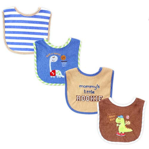 Applique & Embroidery Boy Bibs