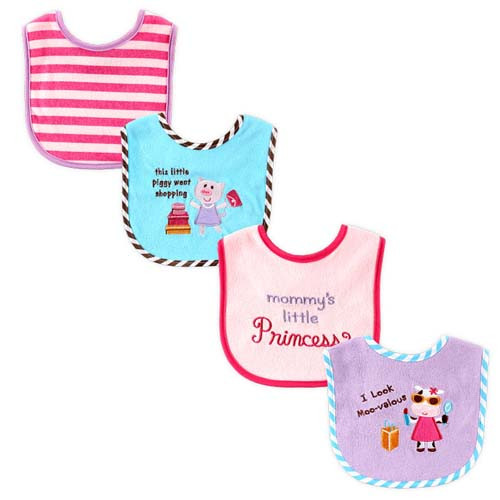 Applique & Embroidery Girl Bibs