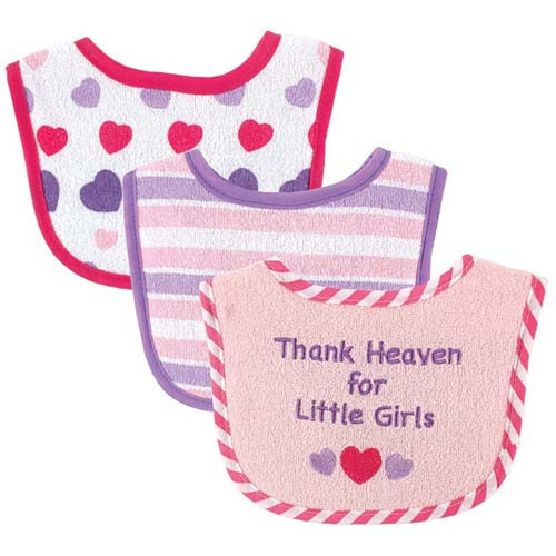 Thanks Heaven Girl Bibs