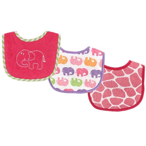 Safari Drooler Girl Bibs