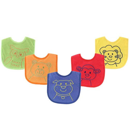 Bright Animal Boy Bibs