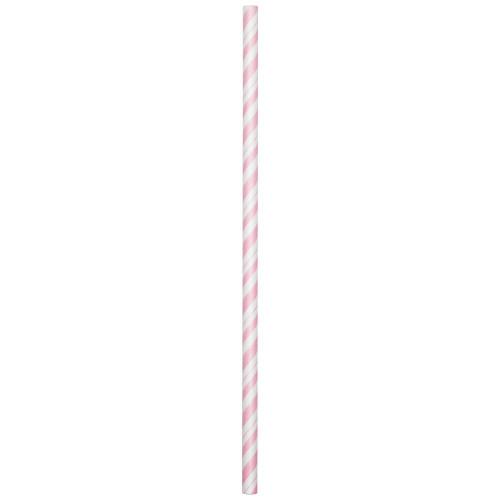 Pink Striped Paper Straws 24pcs/pack