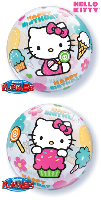 "22"" Hello Kitty Birthday Bubble Balloon"